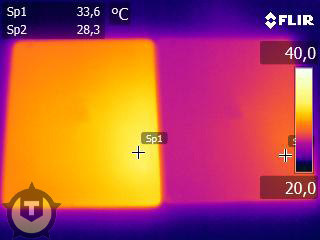 iPad heat test
