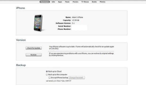 itunes iOS 5.1 update
