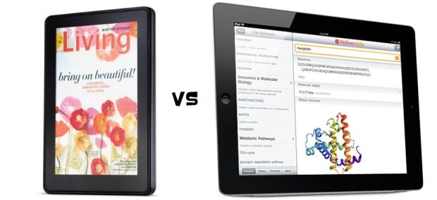 Kindle Fire vs. iPad