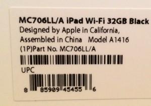 new ipad model numbers