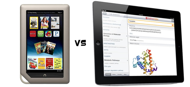 Nook Tablet vs iPad 3rd Generation