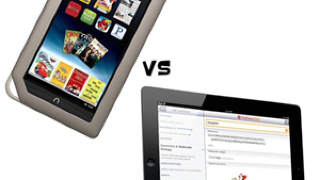 Nook Tablet vs  iPad 3rd Gen
