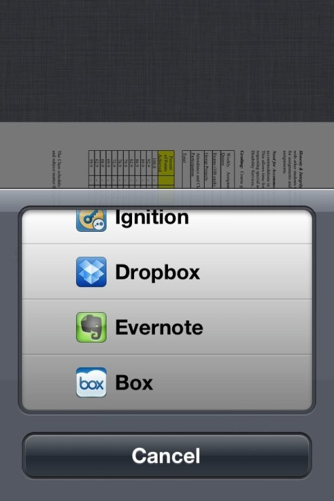 Google Drive iPhone App - Open in