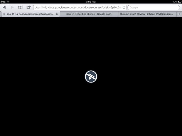 Google Drive iPhone iPad - video fail