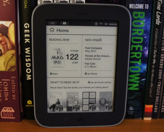 Nook Simple Touch with Glowlight - Main Screen