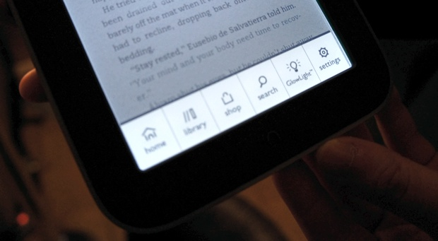 Nook Simple Touch With GlowLight Menu