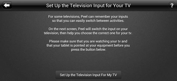 Smart Remote Setup - Program Inputs