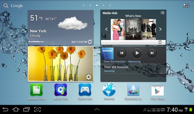 Galaxy Tab 2 Home Screen