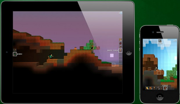 The Blockheads is a 2D Minecraft-esque Game for iOS
