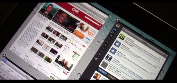 multiple iPad apps on screen at once