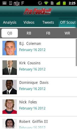Pro Football Weekly Insider app