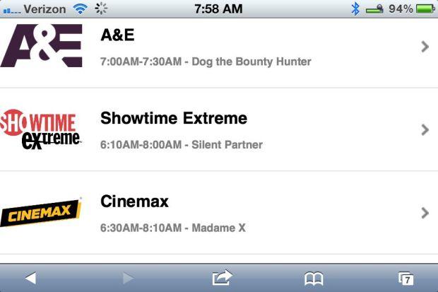 watch live tv on iPad iphone2