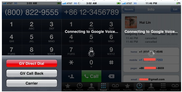 Google Voice for iPhone Integrated