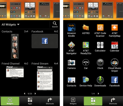 HTC Sense 4 Widget Browser and App Shortcut Maker