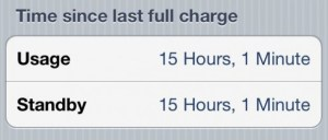 Inidcation of bad iPhone battery life iOS 5.1.1