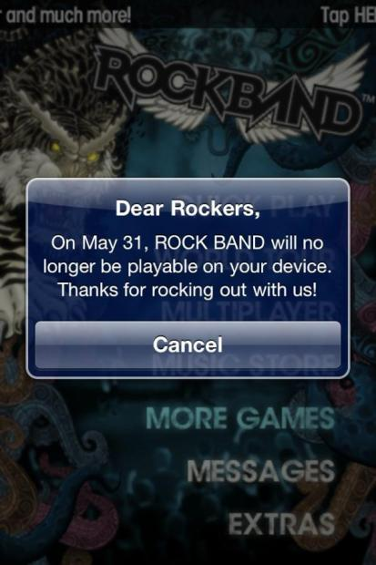 Rock Band for iOS and Android Will Stop Working on May 31
