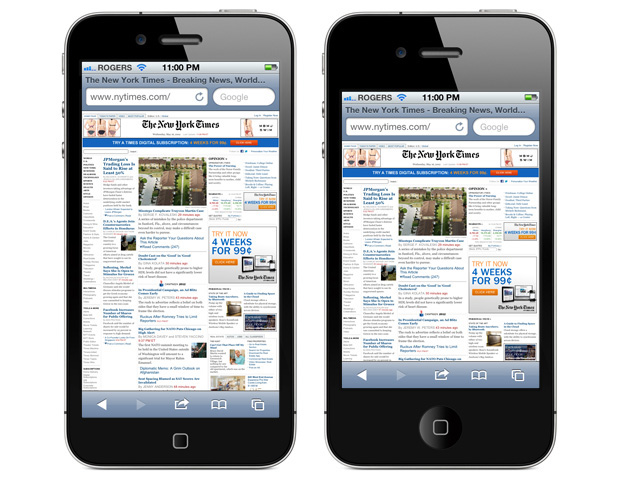 Safari on 4-inch iPhone