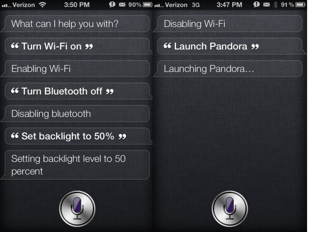 Siri Toggles iPhone 4S jailbreak iOS 5.1.1