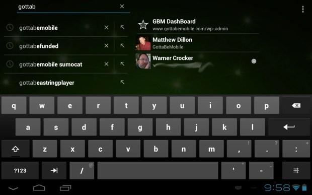Toshiba Excite 7.7 keyboard