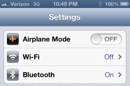 iOS 6 Hands On - Bluetooth Setting