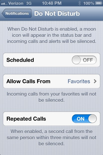 iOS 6 Hands On - Do Not Disturb