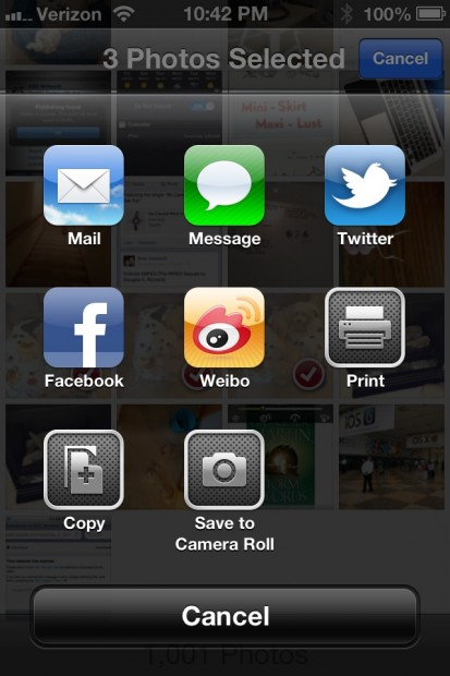 iOS 6 hands on Facebook sharing