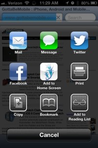 Better sharing in iOS 6