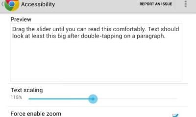 Chrome Text Size Nexus 7