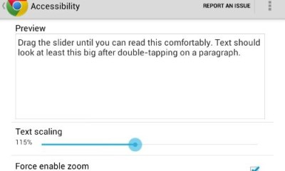 Chrome Text Size Nexus 7