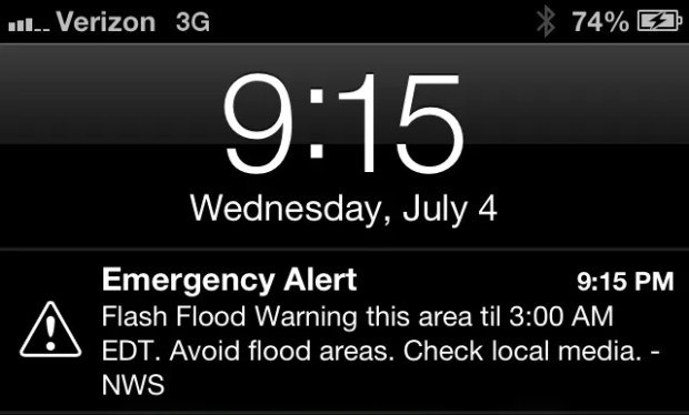 Emergency Alert iPhone iOS 6