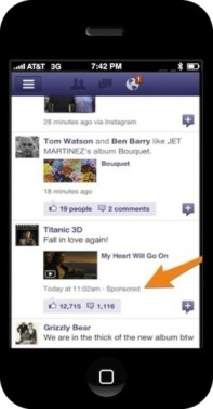 Facebook iPhone app