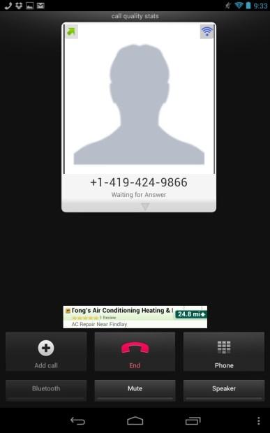 Google Voice Calls on Nexus 7