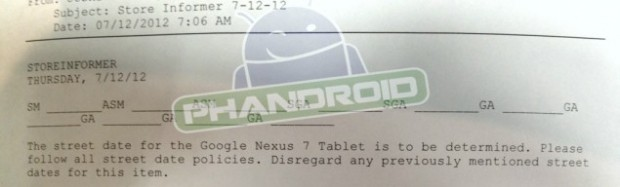 Nexus 7 release date at Gamestop