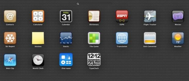 OS X Widgets Mountain Lion