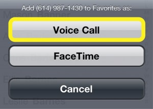 Voice or Facetime