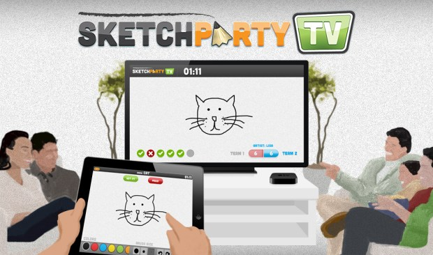 SketchParty TV is a fun, new party game for the iPad & Apple TV.