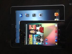iPad vs Nexus 7