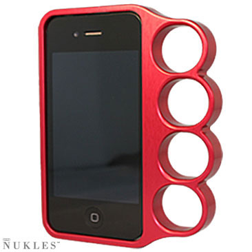 nukles red iphone case