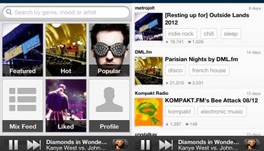 8tracks iPhone music app
