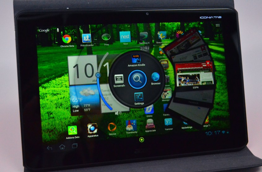 Acer iconia A700 Review - software - RING
