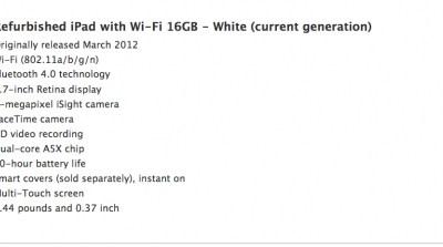 Apple Store Refurbished iPad