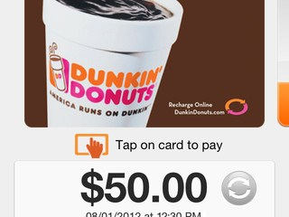 Donukin' Donuts mobile payments app