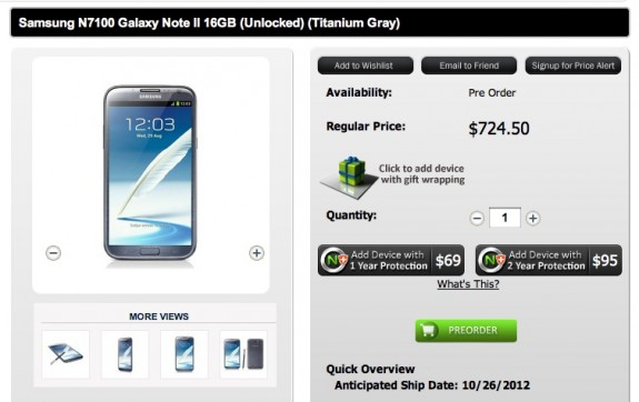 Galaxy Note 2 Preorder ATT TMobile