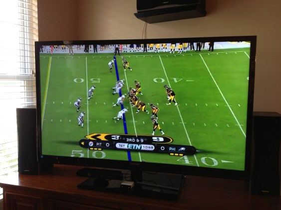 NFL Preseason Live Review iPad - AirPlay to HDTV