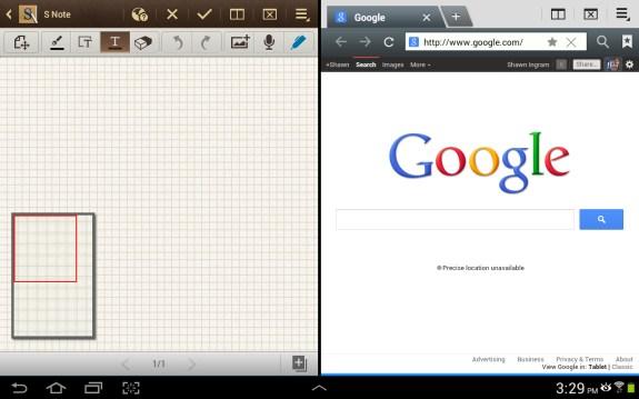 Samsung Galaxy Note 10.1 multiscreen