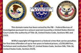 anti-piracy warning