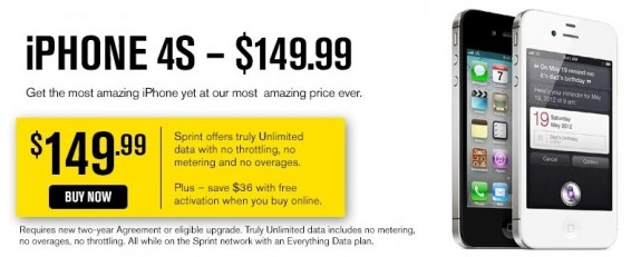 iPhone 4S sale at Sprint - iPhone 5 release