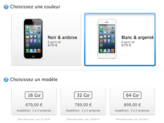 France iPhone 5 Sold Out