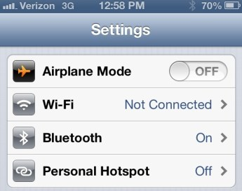 How to use personal hotspot in iOS - iPhone 5 - new iPhone- 1