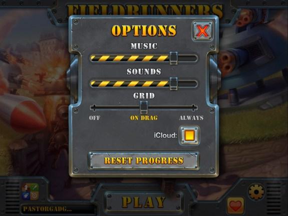 fieldrunners 2 settings